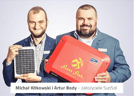 Michal Kitkowski i Artur Body – zalozyciele Sunsol